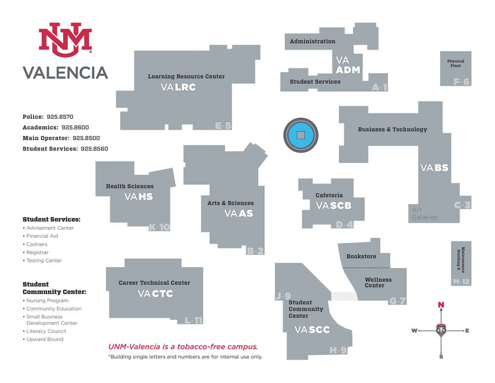 Campus Map :: Valencia Campus | The University of New Mexico